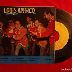 "Discos de vinilo: 7"" LOUIS ANTICO - LA DONNA RICCIA +3 - EP - 1957 - SPAIN PRESS - MONTILLA EPFM-51 (VG++/EX). Lote 206170330"
