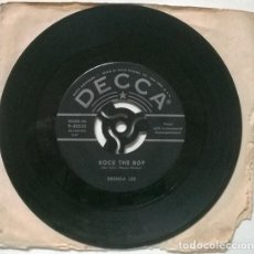 Discos de vinilo: BRENDA LEE. ROCK THE BOP/ ROCK-A-BYE BABY BLUES. DECCA, USA 1957 SINGLE. Lote 206184210