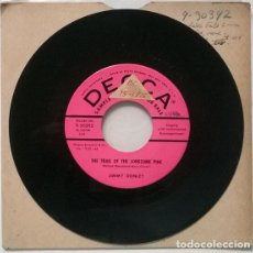 Discos de vinilo: JIMMY DONLEY. SOUTH OF THE BORDER/ THE TRAIL OF THE LONESOME PINE. DECCA USA 1958 SINGLE PROMOCIONAL. Lote 206184537