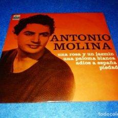 Discos de vinilo: DISCO SINGLE ANTONIO MOLINA --- ODEON MADE IN FRANCE --- UNA ROSA Y UN JAZMIN. Lote 206184838