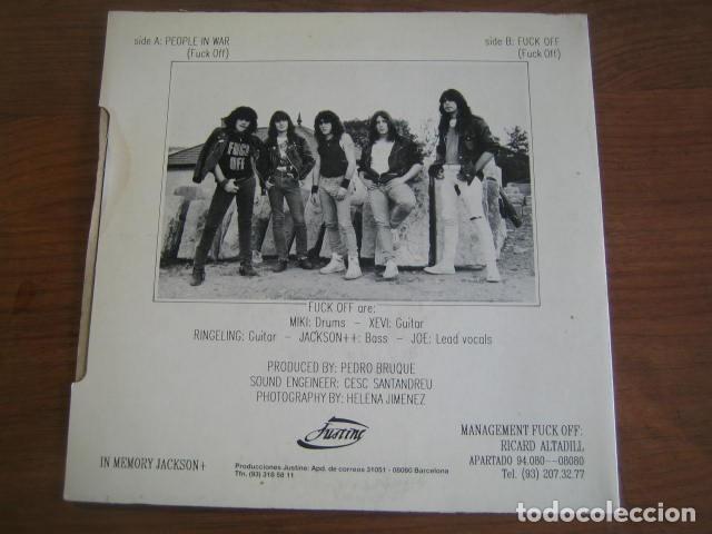 Discos de vinilo: FUCK OFF - People in war *************** RARO SINGLE ESPAÑOL HEAVY 1988 - Foto 2 - 206186633