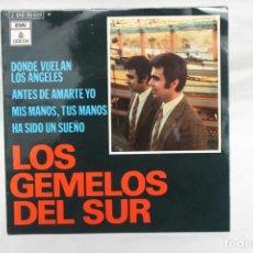 Discos de vinilo: LOS GEMELOS DEL SUR, SINGLE, DONDE VUELAN LOS ANGELES, PROMO 1970. Lote 206193852