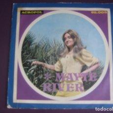 Discos de vinilo: MAYTE RIVER SG ACROPOL 1974 - BAILANDO CON MI RUMBITA +1 LEVES SEÑALES DE USO - POP 70'S. Lote 294517713