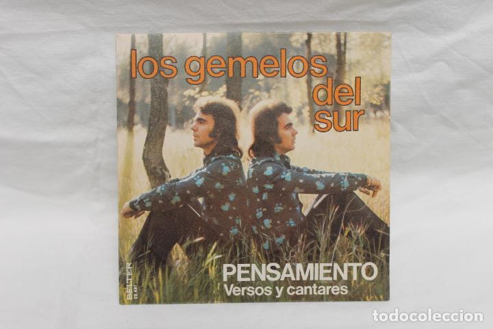LOS GEMELOS DEL SUR, SINGLE, PENSAMIENTO, 1975, BELTER (Música - Discos - Singles Vinilo - Flamenco, Canción española y Cuplé)