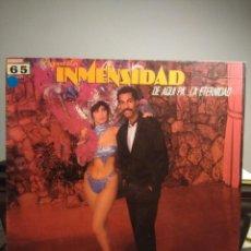 Discos de vinilo: LP ORQUESTA INMENSIDAD ( SALSA ) : DE AQUI PA´LA ETERNIDAD ( EDICION FANIA / MANZANA ). Lote 206196052