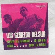 Discos de vinilo: LOS GEMELOS DEL SUR, SINGLE, BENDITO SEA TU NOMBRE, 1968 VERGARA. Lote 206196062