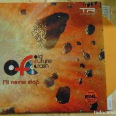 Discos de vinilo: OLD FUTURE CRASH – I'LL NEVER STOP - SINGLE TURIA RECORDS 2008 - EDICION NUMERADA VINILO NARANJA. Lote 206201725