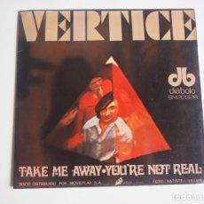 Discos de vinilo: VERTICE SINGLE TAKE ME AWAY / YOU'RE NOT REAL DIABOLO 1970 MUY BUEN ESTADO ROCK PROGRESIVO. Lote 206208515