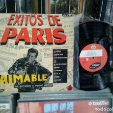 Discos de vinilo: LMV - AIMABLE, SU ACORDEON Y ORGANO ELECTRICO. ÉXITOS DE PARIS -- LP 10''. Lote 206210668