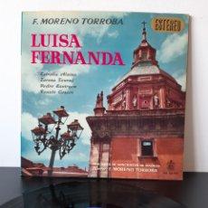 Discos de vinilo: LUISA FERMANADA1. F. MORENO TORROBA. ESTRELLA ALSINA, TERESA TOURNE, PEDRO LAVIRGEN, RENATO CESARI.. Lote 206215617