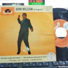 Discos de vinilo: JOHN WILLIAM EN ESPAÑOL EP LAS HOJAS DEL VERANO + 3 ESPAÑA 1961. Lote 206217833