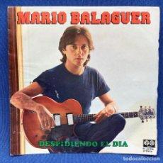 Discos de vinilo: SINGLE MARIO BALAGUER - DESPIDIENDO EL DÍA - ESPAÑA - 1980 - PORTADAD TOCADA - SINGLE MUY BUEN ESTAD. Lote 206219523