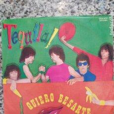 Discos de vinilo: TEQUILA. QUIERO BESARTE. SINGLE VINILO. Lote 206221172