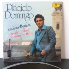 Discos de vinilo: PLACIDO DOMINGO. CANCIONES POPULARES. GRANADA, SIBINEY, AMAPOLA, CATARÍ. 1977. ESPAÑA.. Lote 206222445