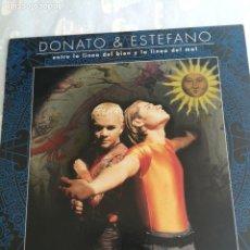 Discos de vinilo: DONATO Y ESTEFANO -MAXI SINGLE REMIXES ENTRE LA LINEA DEL BIEN Y LA LINEA DEL MAL 1997 ESPAÑA. Lote 206232808