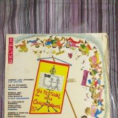 Discos de vinilo: VINILO 2º FESTIVAL DE LA CANCIÓN INFANTIL 1968 TVE BELTER. Lote 206233392