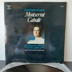 Discos de vinilo: MONTSERRAT CABALLÉ. CANÇO DE AMOR I DE GUERRA. ORQUESTA SINFONICA DE BARCELONA.. Lote 206235492
