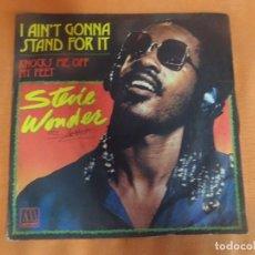 Discos de vinilo: SINGLE , STEVIE WONDER - I AIN`T GONNA STAND FOR IT- , VER FOTOS. Lote 206236937