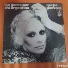 Discos de vinilo: SINGLE , NACHA GUEVARA , NO LLORES POR MI ARGENTINA , VER FOTOS. Lote 206238238