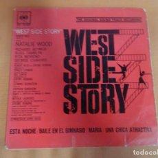Discos de vinilo: SINGLE , B.S.O. WEST SIDE HISTORY , VER FOTOS. Lote 206239697