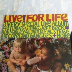 Discos de vinilo: LP LIVE FOR LIFE A VERY SPECIAL LIVE ALBUM JEFF BECK REM STING BOB MARLEY, BANGLES MORE, 1986 CANADA. Lote 206240687