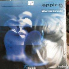 """Discos de vinilo: APPLE 9 - WHAT YOU DO TO ME (12"""") 2000. SELLO:TEMPO MUSIC CAT. Nº: TM0165MX. COMO NUEVO. ITALO-DANCE. Lote 206241661"""