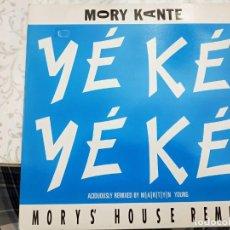 """Discos de vinilo: MORY KANTE* - YÉ KÉ YÉ KÉ (MORY'S HOUSE REMIX) (12"""")1988. SELLO:BARCLAY 887 706-1. COMO NUEVO. Lote 206241876"""
