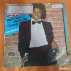 Discos de vinilo: SINGLE , MICHAEL JACKSON - DON´T STOP TILL YOU GET ENOUGH / I CAN´T HELP IT, VER FOTOS. Lote 206243297
