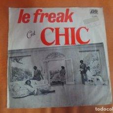 Discos de vinilo: SINGLE ,CHIC – LE FREAK (C'EST CHIC), VER FOTOS. Lote 206243608