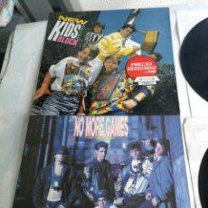 Discos de vinil: 2 LP NKOTB NEW KIDS ON THE BLOCK 1986 Y NO MORE GAMES REMIX ALBUM 1990 ESPAÑA. Lote 206245922