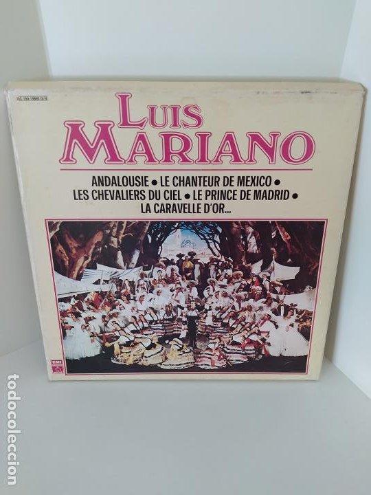 LP. LUIS MARIANO. ANDALOUSIE. LE CHANTEUR DE MEXICO. LES CHEVALIERS DU CIEL. LE PRINCE DE MADRID. (Música - Discos - LP Vinilo - Solistas Españoles de los 50 y 60)