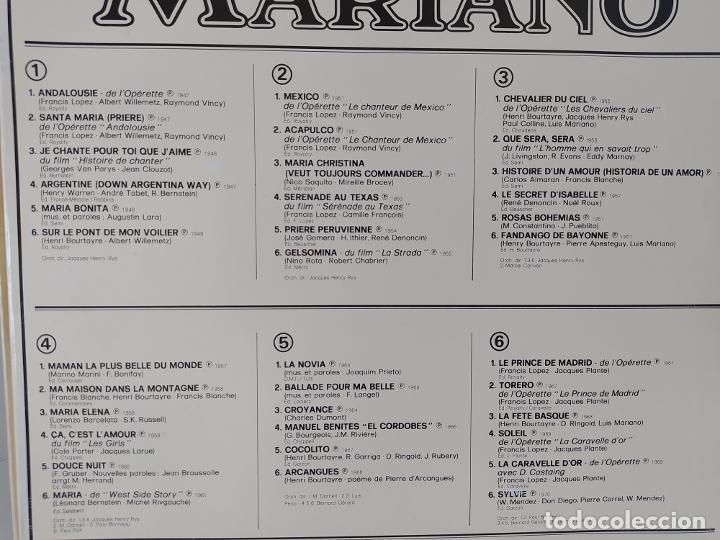 Discos de vinilo: LP. LUIS MARIANO. ANDALOUSIE. LE CHANTEUR DE MEXICO. LES CHEVALIERS DU CIEL. LE PRINCE DE MADRID. - Foto 6 - 206248342