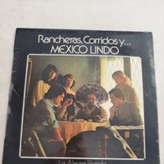 Discos de vinilo: RANCHERAS,CORRIDOS Y... MEXICO LINDO. Lote 206248867