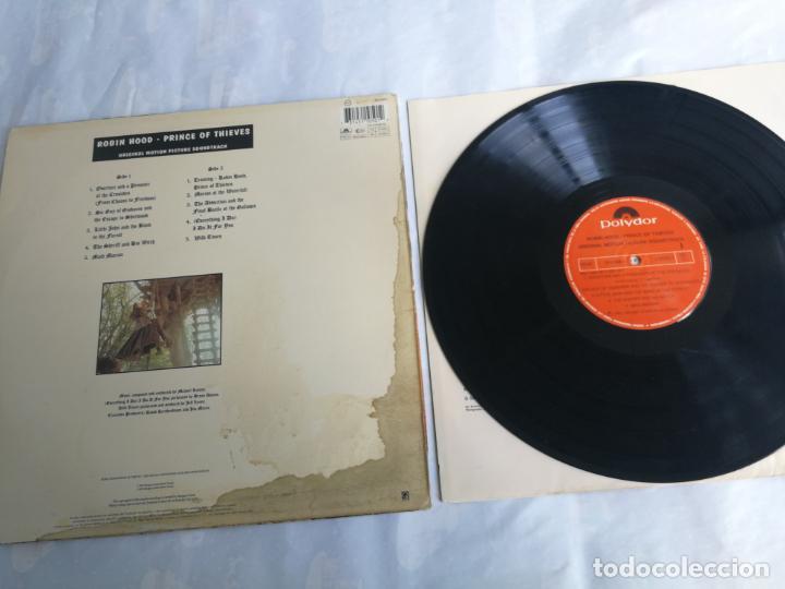 Discos de vinilo: ROBIN HOOD PRINCE OF THIEVES - LP POLYDOR 1991 SPAIN BANDA SONORA - Foto 2 - 206249727