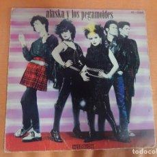 Discos de vinilo: SINGLE, ALASKA Y LOS PEGAMOIDES - OTRA DIMENSIÓN / QUIERO SER UN BOTE DE COLÓN / SALIR , VER FOTOS. Lote 206252033