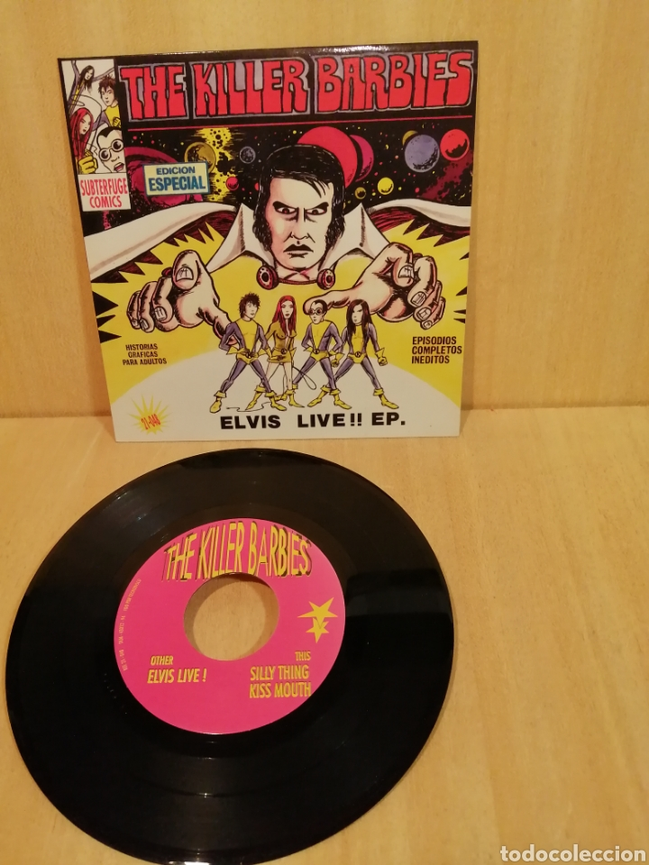 THE KILLER BARBIES. ELVIS LIVE!! EP. (Música - Discos - Singles Vinilo - Punk - Hard Core)