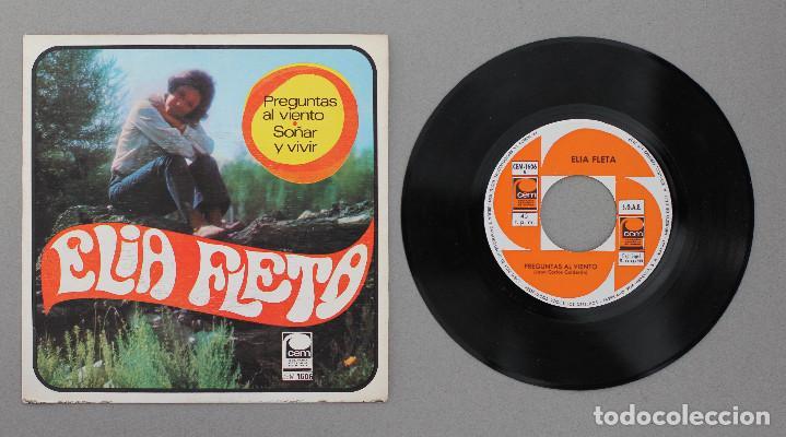 Discos de vinilo: ELIA FLETA// PREGUNTAS AL VIENTO// SINGLE// 1968// CEM - Foto 3 - 206256346