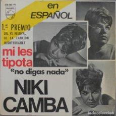 Discos de vinilo: NIKI CAMBA// NO DIGAS NADA+3// EP// 1965// PHILIPS. Lote 206256895