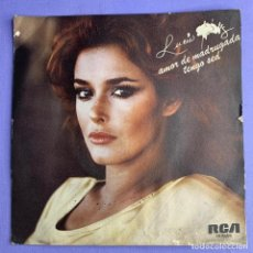 Discos de vinilo: SINGLE LUCÍA MÉNDEZ - AMOR DE MADRUGADA TENGO SED VG++. Lote 206268591