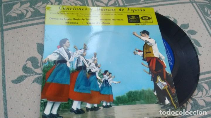 E P ( VINILO) DE GRUPO DE DANZAS DE LA SECCION FEMENINA DE F.E.T Y DE LAS J.O.NS DE LA CORUÑA (Música - Discos de Vinilo - EPs - Étnicas y Músicas del Mundo)