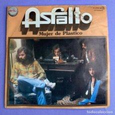 Discos de vinilo: SINGLE ASFALTO - MUJER DE PLASTICO VG++. Lote 206268981