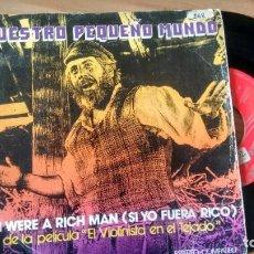 Discos de vinilo: SINGLE ( VINILO) DE NUESTRO PEQUEÑO MUNDO AÑOS 70. Lote 206270398