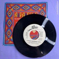 Discos de vinilo: SINGLE APACHE - TE ESTOY QUERIENDO TANTO VG++. Lote 206274663