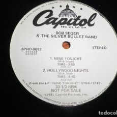 Discos de vinilo: BOB SEGER & THE SILVER BULLET BAND TRYN´ TO LIVE MY WITHOUT YOU MAXI SINGLE VINILO PROMO USA 1981. Lote 206276031