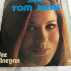 Discos de vinilo: HOMENAJE A TOM JONES - LEE FINEGAN - THE VALE ORCHESTRA, SINGERS & CHORUS 1973 ESPAÑA. Lote 206280251