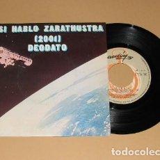 Discos de vinilo: EUMIR DEODATO - ASI HABLO ZARATHUSTRA 2001 - SINGLE - 1973. Lote 206284665