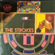 Discos de vinilo: LP THE STROKES ROOM ON FIRE VINILO NARANJA NUEVO PRECINTADO. Lote 206290050