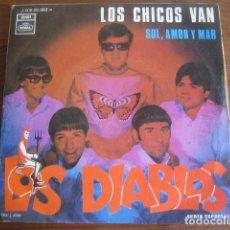 Discos de vinilo: MINI LOTE CUATRO SINGLES LOS DIABLOS - MIRAR FOTOS. Lote 206291532