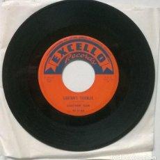 Discos de vinilo: LIGHTNIN' SLIM. SWEET LITTLE WOMAN/ LIGHTNIN'S TROUBLES. EXCELLO, USA 1959 SINGLE. Lote 206293783