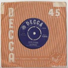 Discos de vinilo: LOS BRAVOS BLACK IS BLACK 1966 ORIGINAL UK SINGLE DECCA F.22419. Lote 206293927